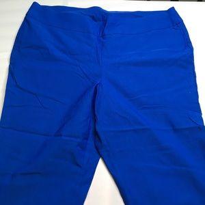 Royal Blue Chico's Crop Pants